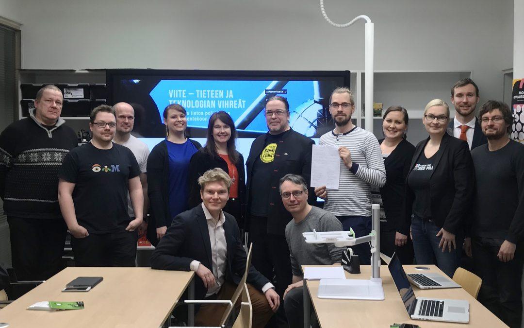 Yhä useampi haluaa puolustaa sivistystä – Tieteen ja teknologian vihreiden ensimmäinen paikallisyhdistys perustettiin Espooseen